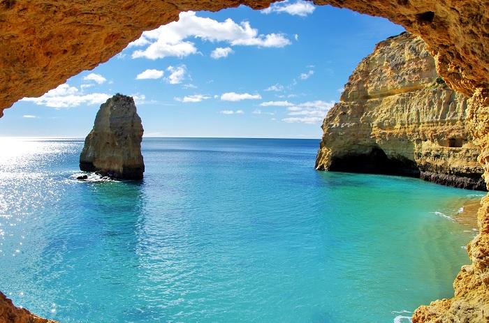 Formations rocheuses su la côte d'Algarve