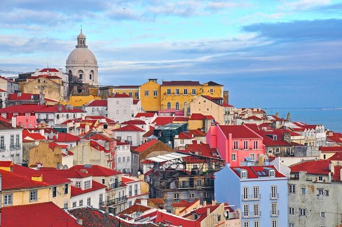 Maisons colorées à Lisbonne