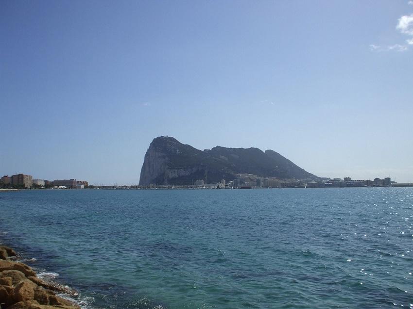 Gibraltar au sud de l'Espagne