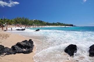 Plage sur l'ile de la Réunion