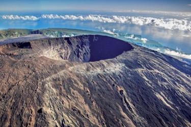 Volcan sur l'ile de la Réunion